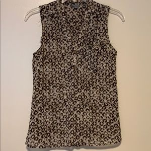 Sheer cheetah tank top